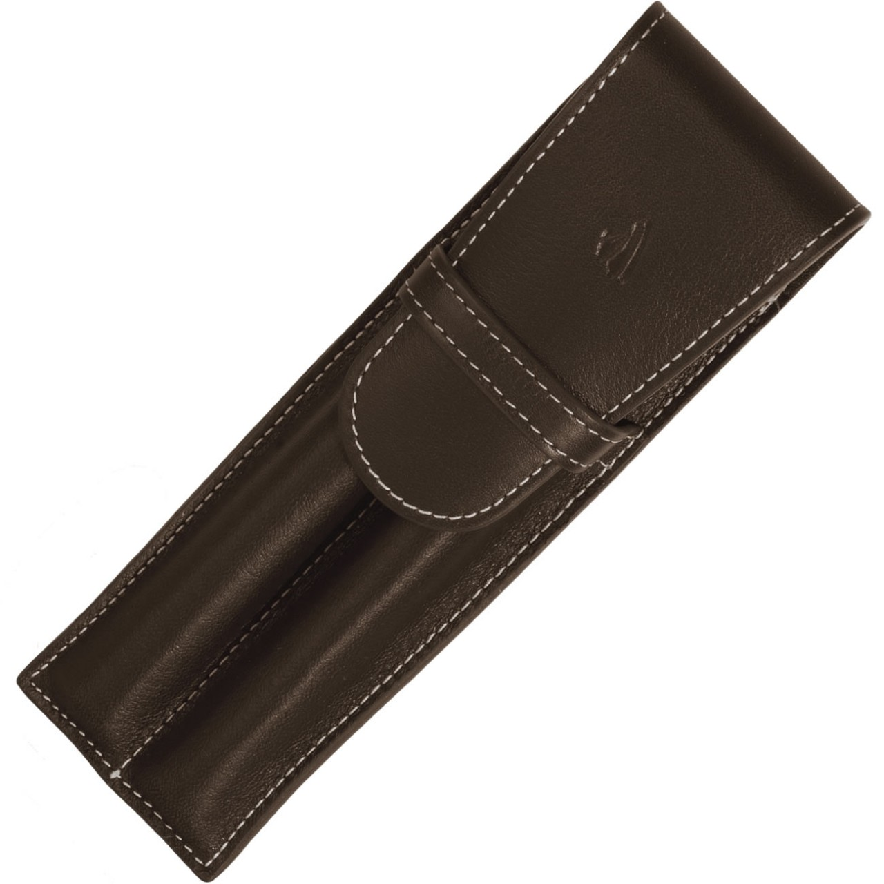 LARGE SOFT PEN POUCH W/FLAP 2P * RIVIERA CHOCOLATE