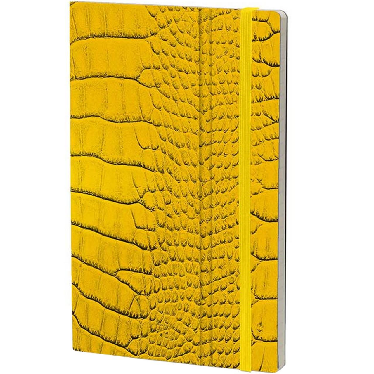 Stifflexible Notizbuch MRS CROCODILE 9 x 14 cm 144 S., YELLOW