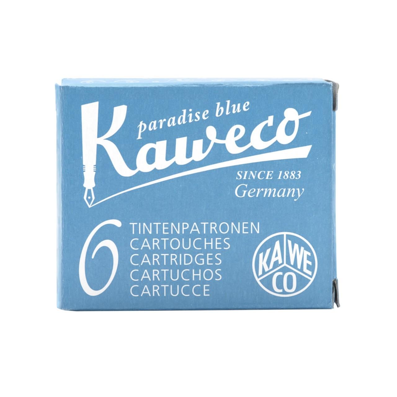 Kaweco Tintenpatronen 6 Stück paradiesblau VE=20 Pack