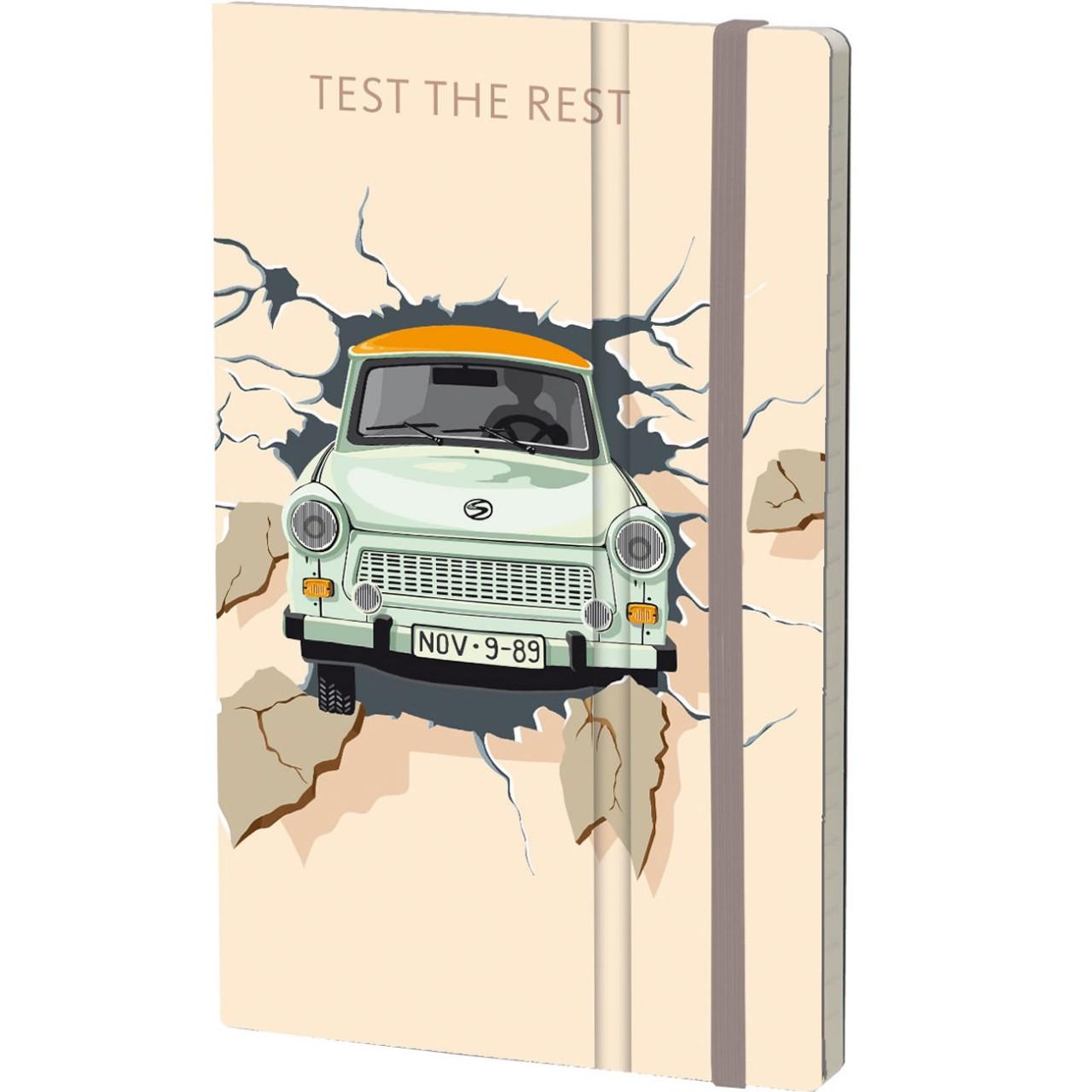 Stifflex Notizbuch THE WALL 9 x 14 cm 144 S., TEST THE REST - ORANGE