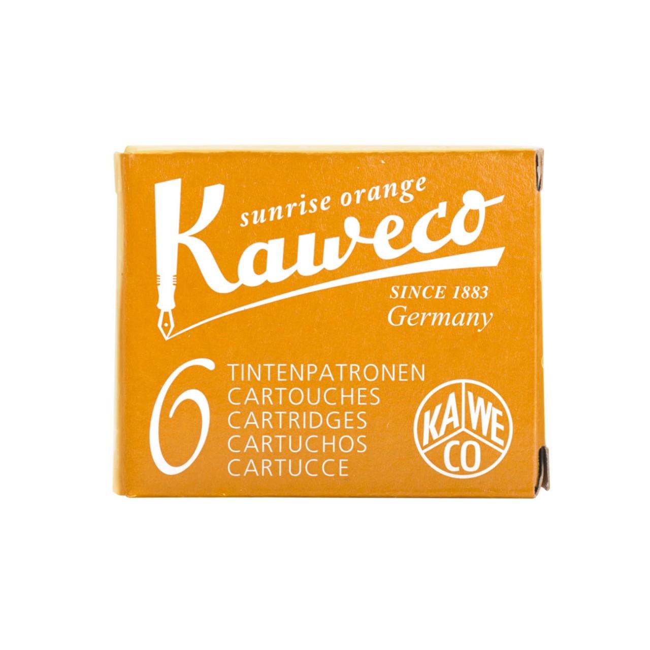 Kaweco Tintenpatronen 6 Stück sonnenorange VE=20 Pack