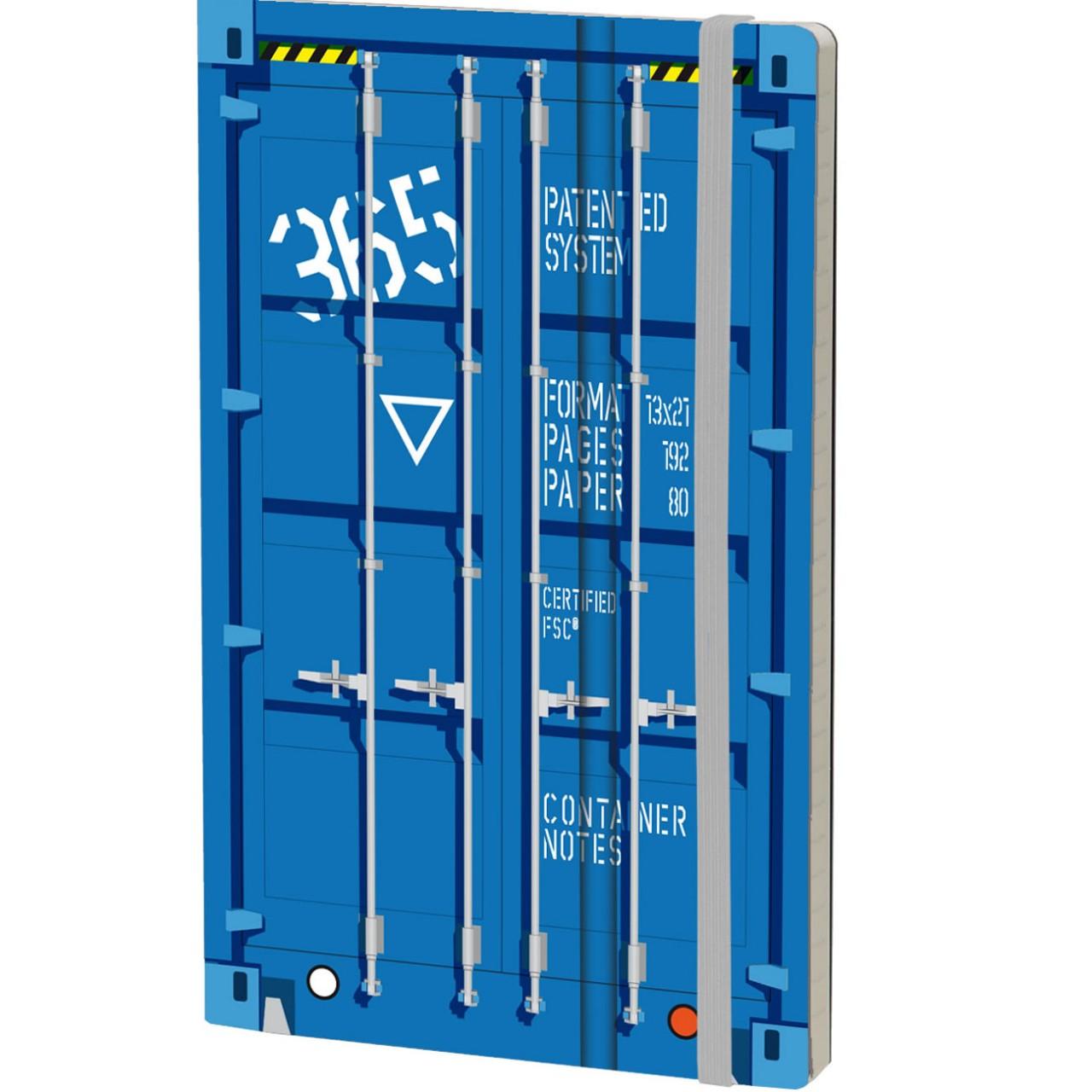 Stifflex Notizbuch CONTAINER NOTES 13 x 21 cm 192 S., BLUE