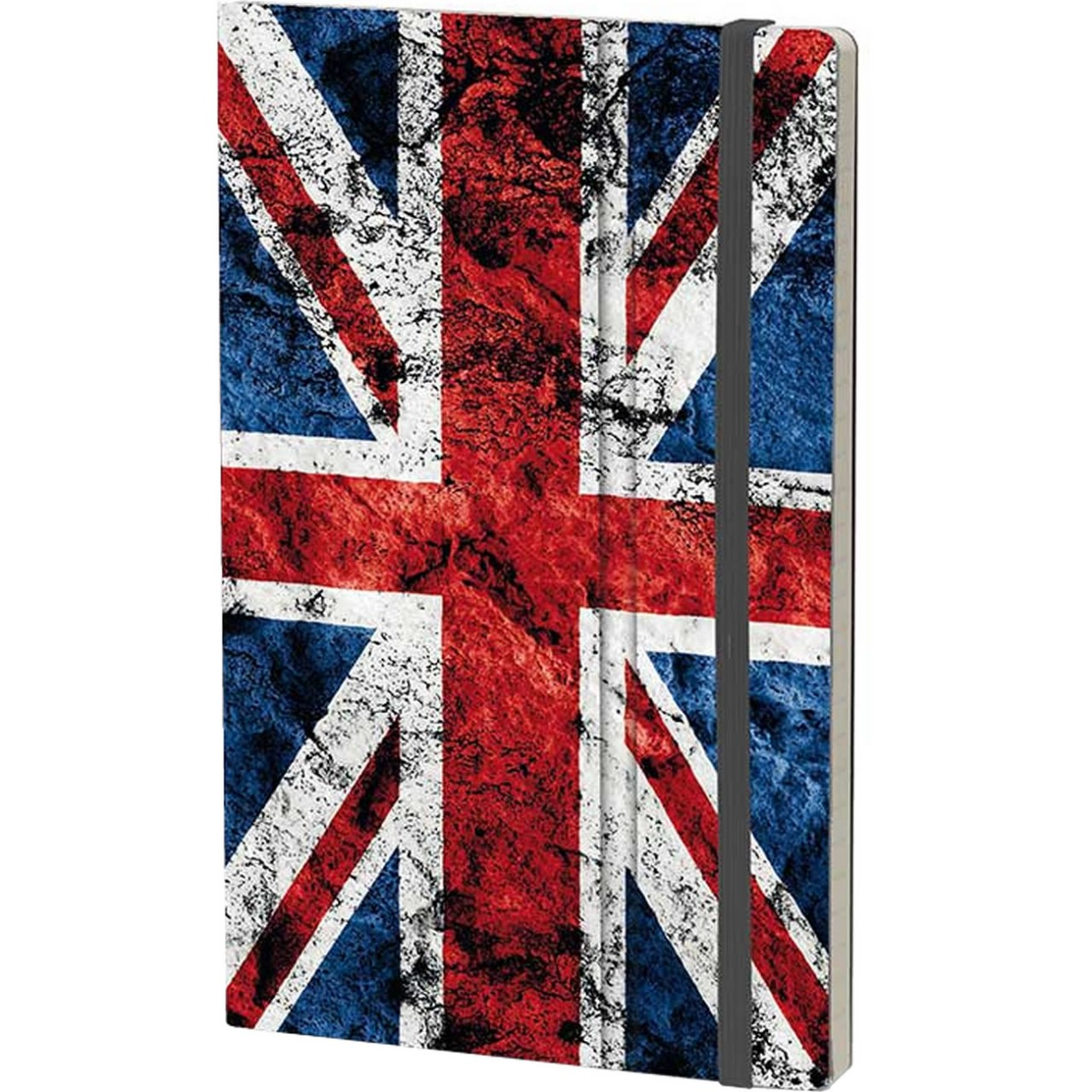 Stifflex Notizbuch HISTORICAL NOTES 9 x 14 cm 144 S., GOD SAVE THE QUEEN (UK Flag)