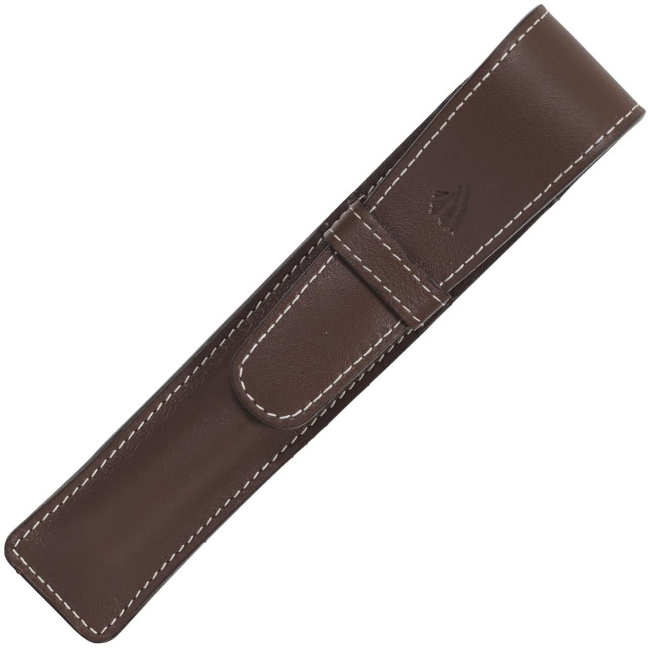 LARGE SOFT PEN POUCH WITH FLAP * RIVIERA CHOCOLATE