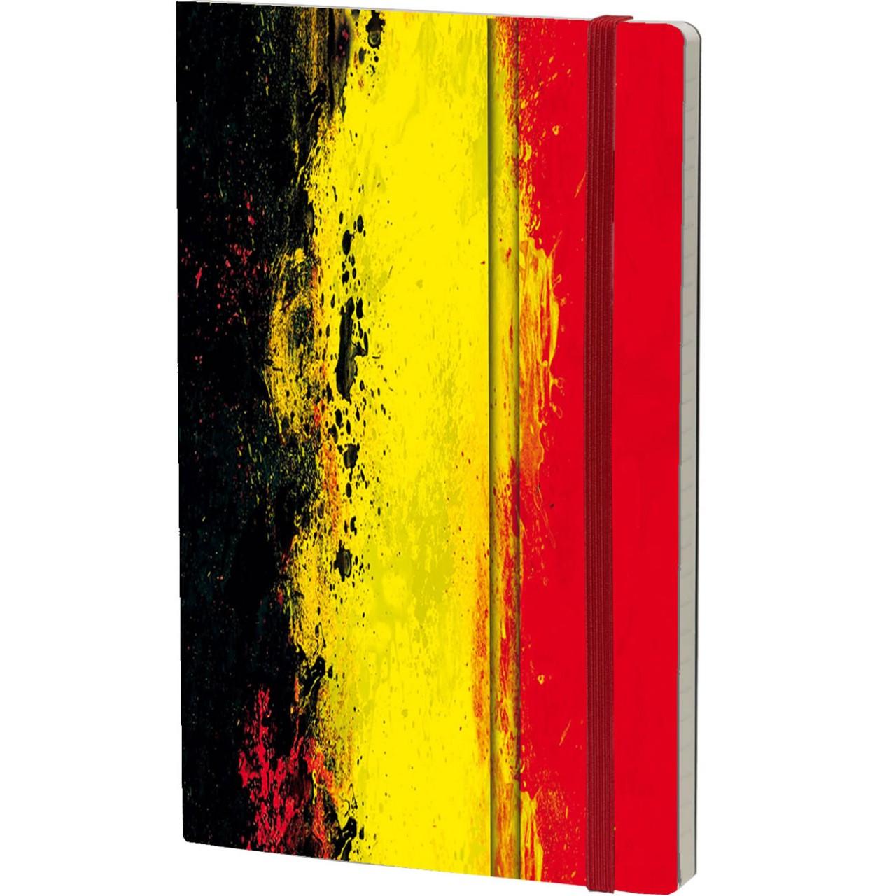Stifflexible Notizbuch HISTORICAL NOTES 13 x 21 cm 192 S., EENDRACHT MAAKT MACHT - L'UNION FAIT LA FORCE (Belgium Flag)