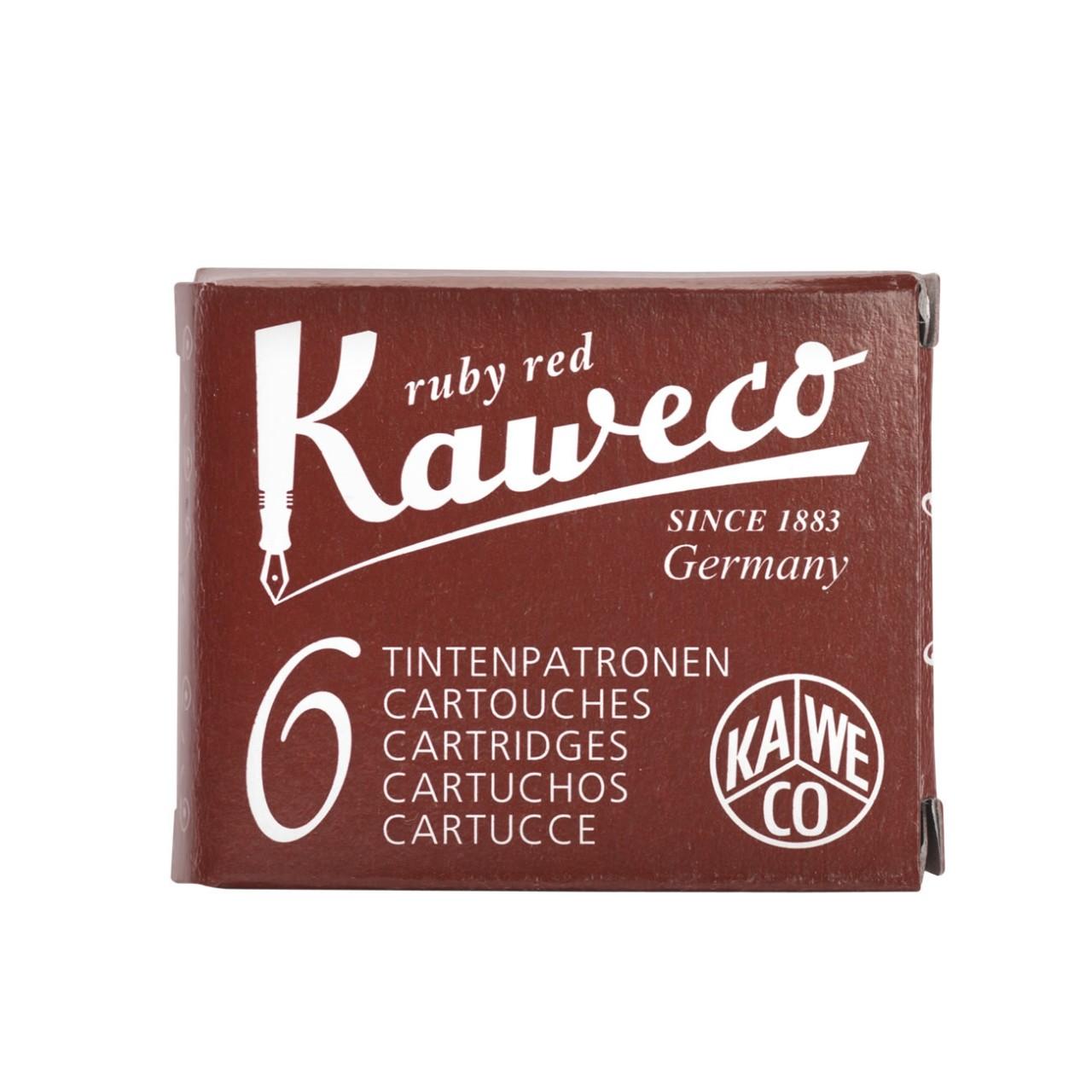 Kaweco Tintenpatronen 6 Stück rubinrot VE=20 Pack