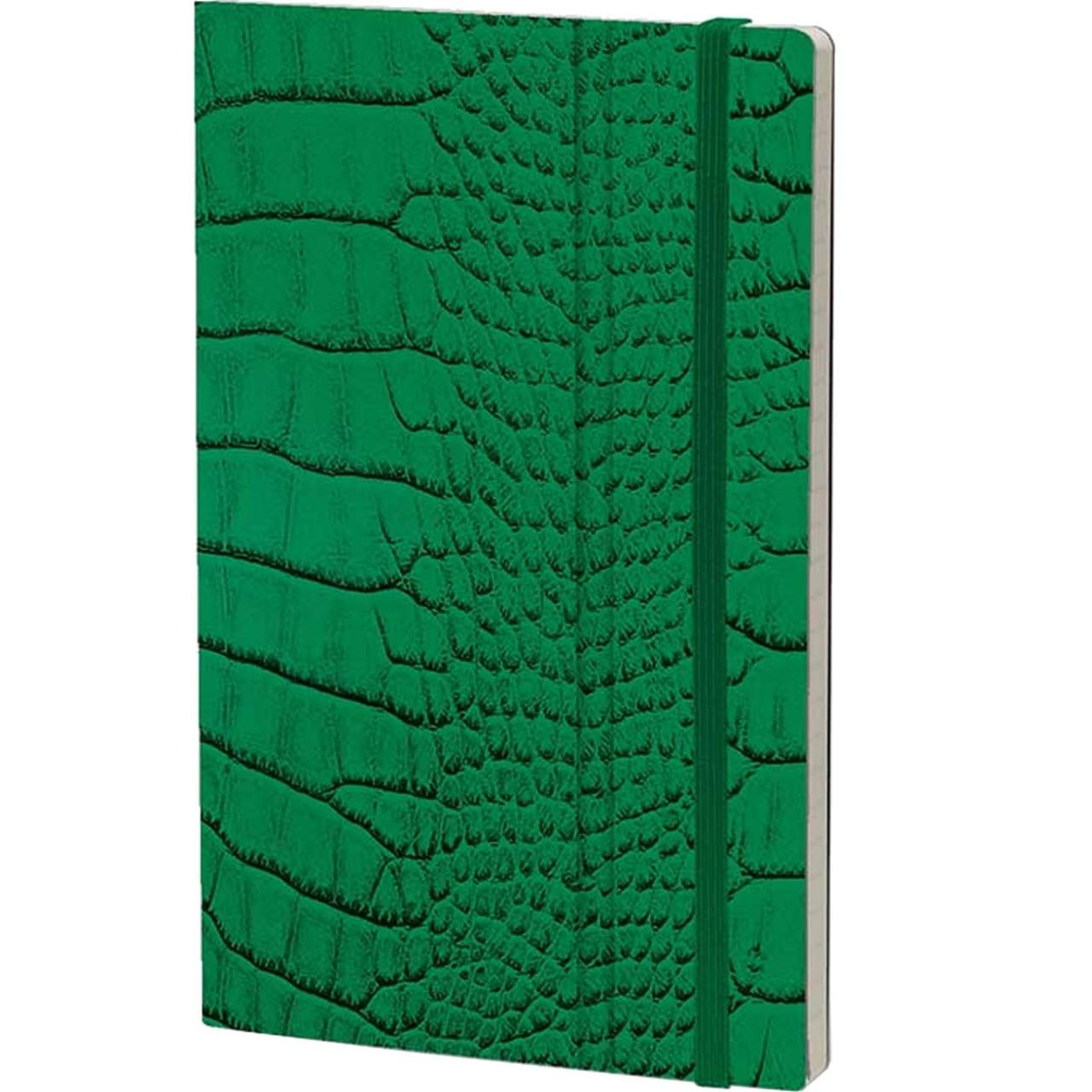 Stifflexible Notizbuch MRS CROCODILE 13 x 21 cm 192 S., GREEN