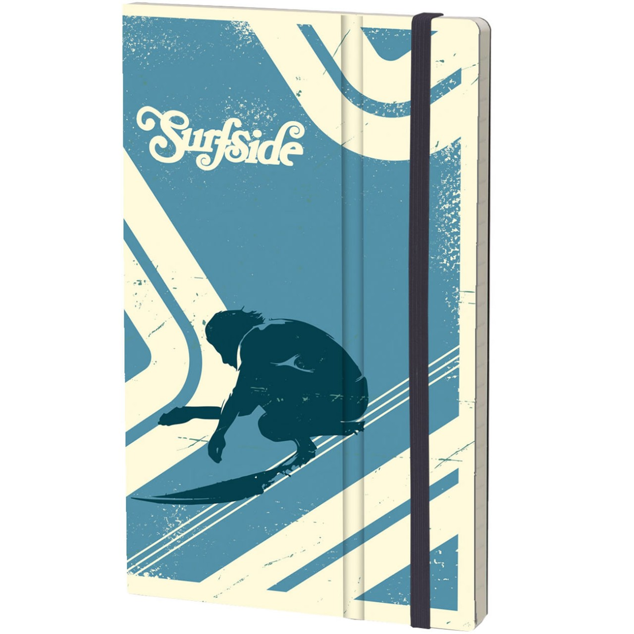 Stifflexible Notizbuch SURF SIDE 13 x 21 cm 192 S., BLUWAVE