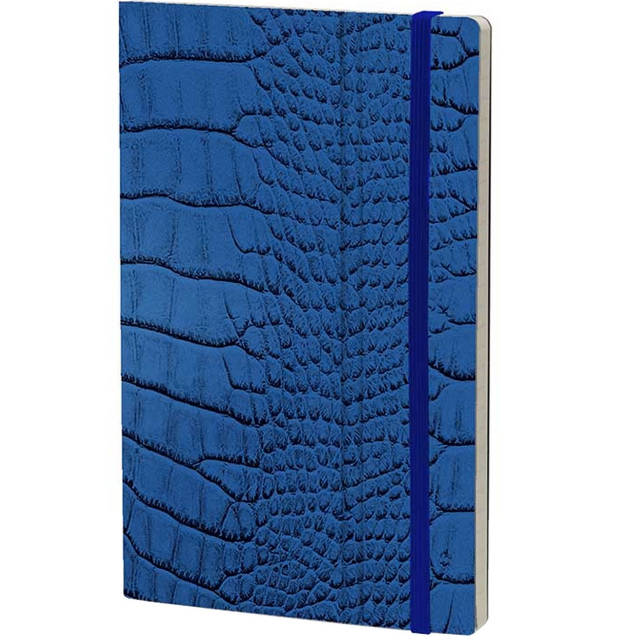 Stifflexible Notizbuch MRS CROCODILE 9 x 14 cm 144 S., BLUE