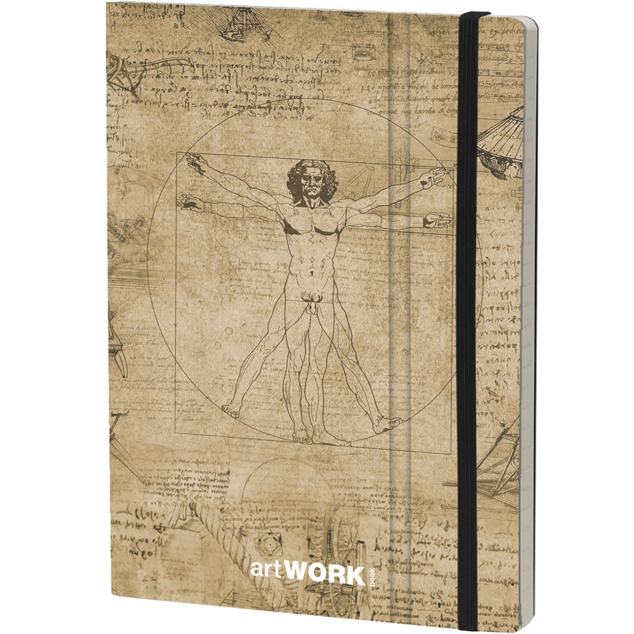 Stifflex Notizbuch ARTWORK BOOK 15 x 21 cm 192 S., LEONARDO