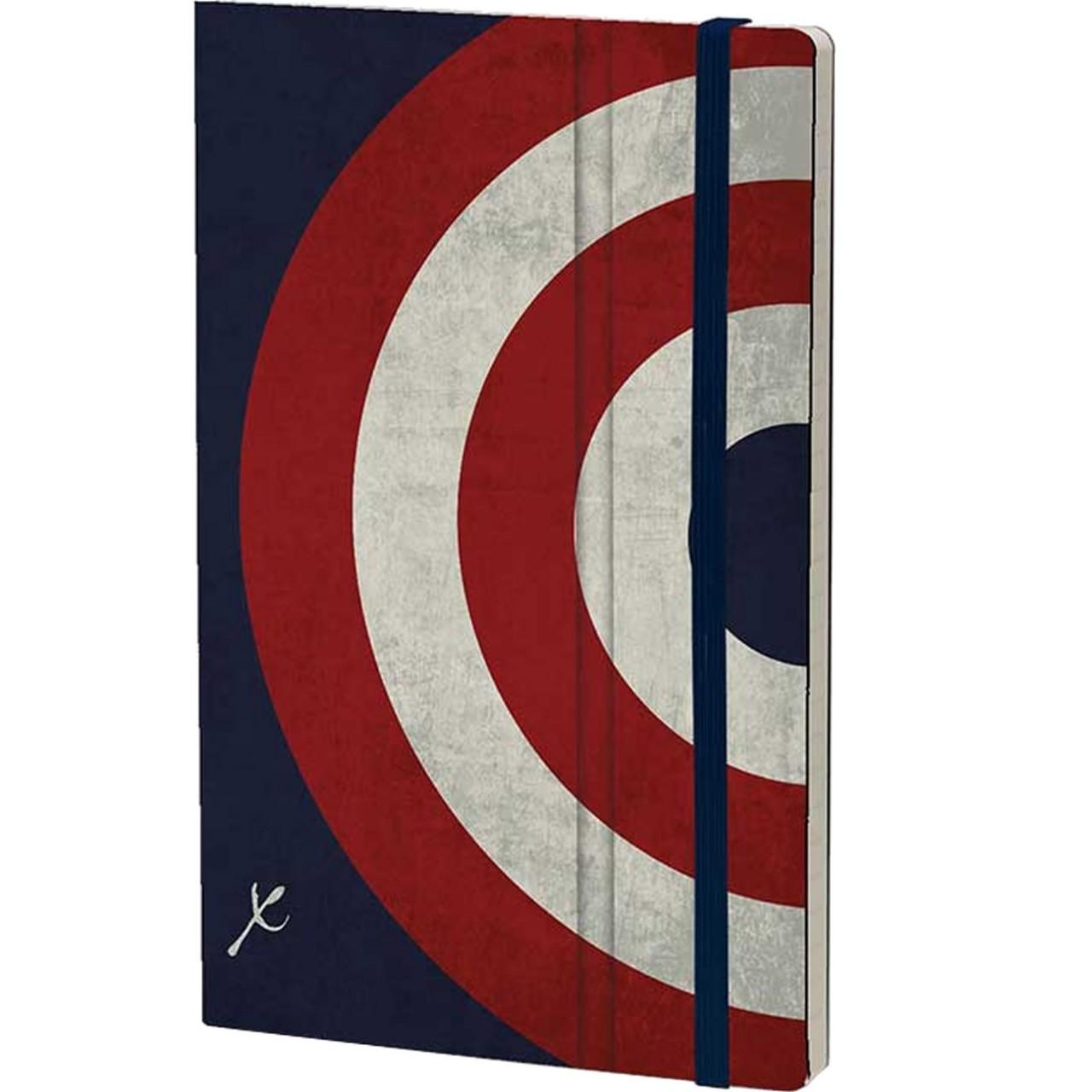 Stifflexible Notizbuch ICON 13 x 21 cm 192 S., CAPTAIN SHIELD