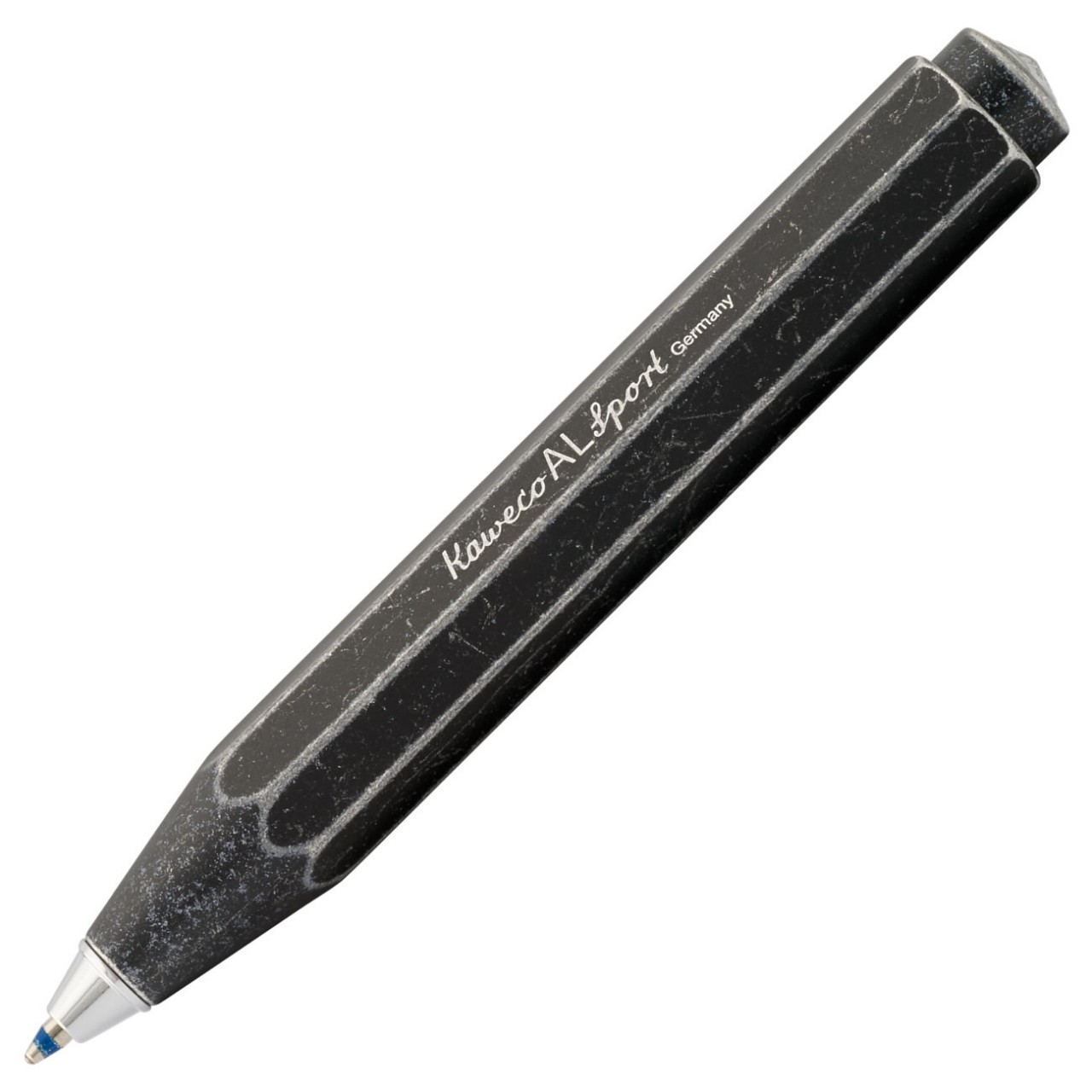 Kaweco AL SPORT Kugelschreiber schwarz stone washed