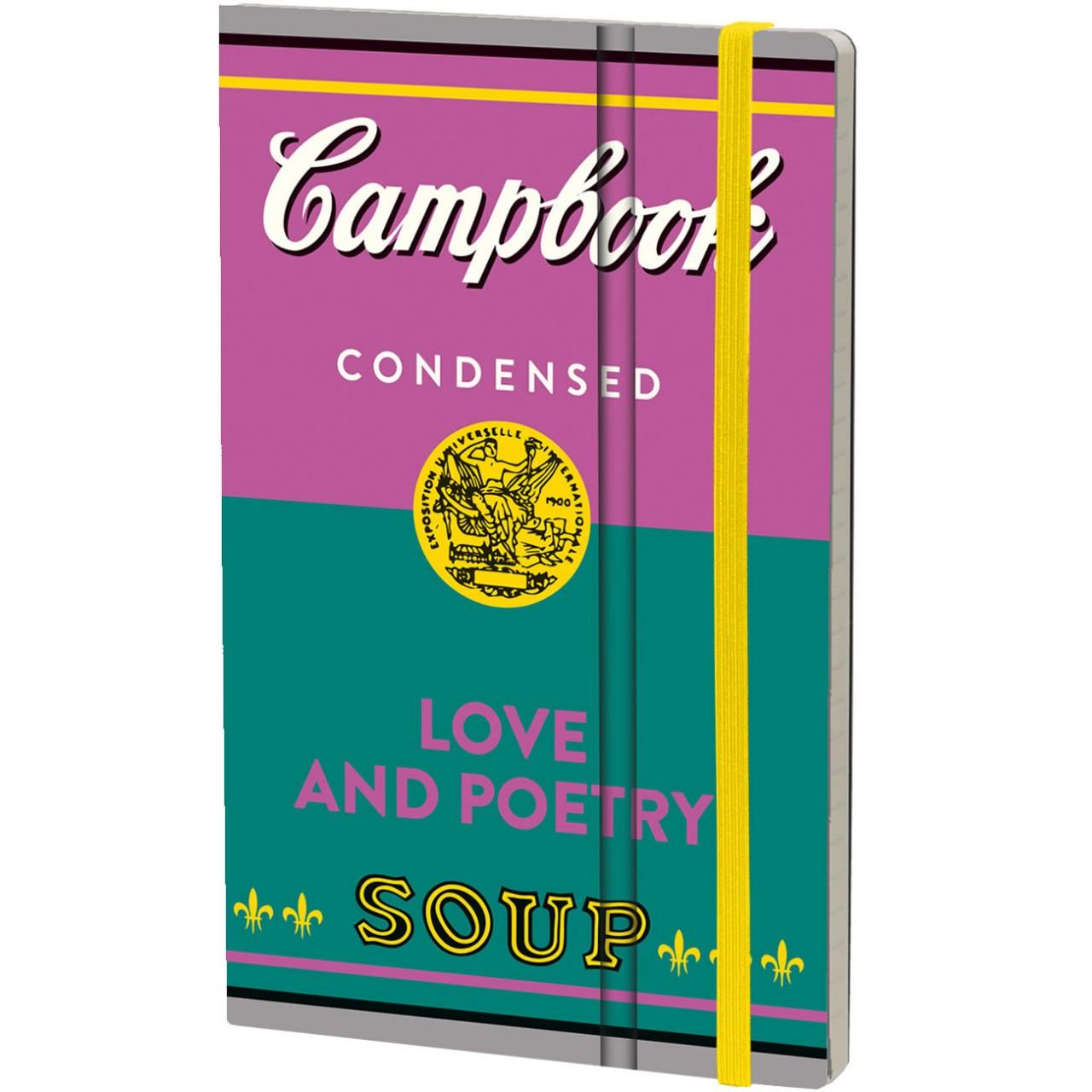 Stifflexible Notizbuch CAMPBOOK 9 x 14 cm 144 S., LOVE AND POETRY