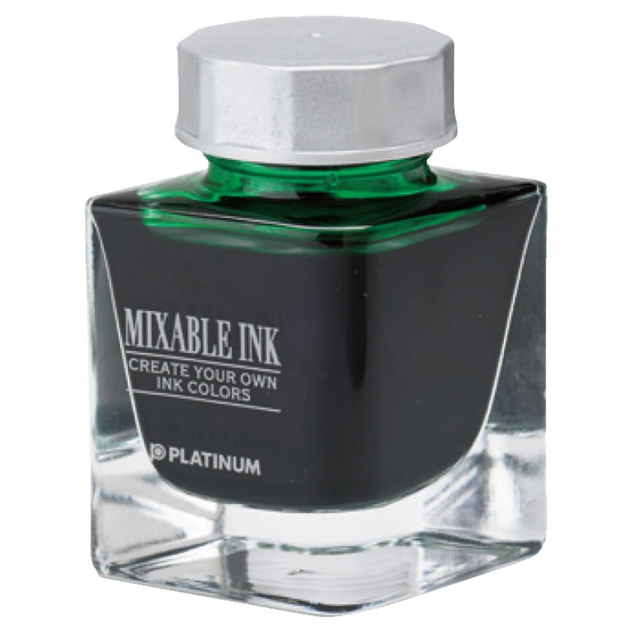 Platinum Dyestuff 'Mixable' bottle ink 20cc Leaf Green