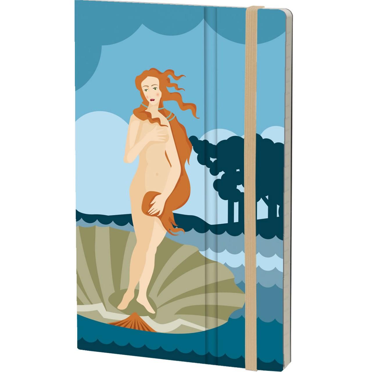 Stifflexible Notizbuch ART 13 x 21 cm 192 S., BOTTICELLI