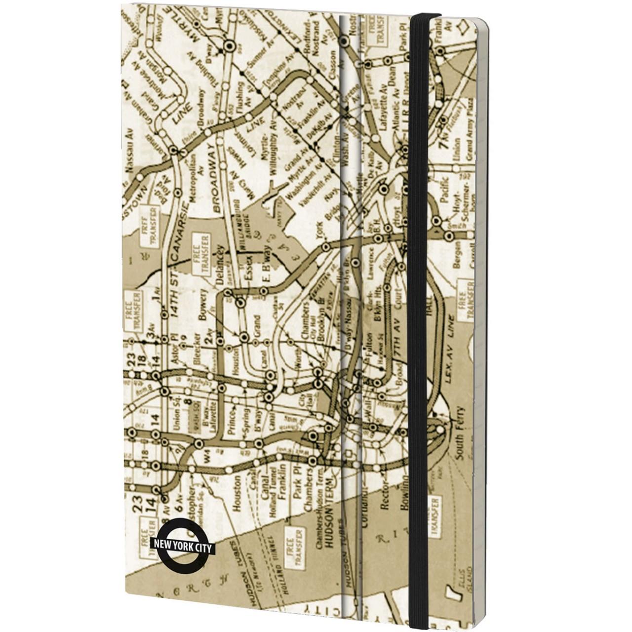 Stifflexible Notizbuch UNDERGROUND (New York) 13 x 21 cm 192 S., NYC VINTAGE
