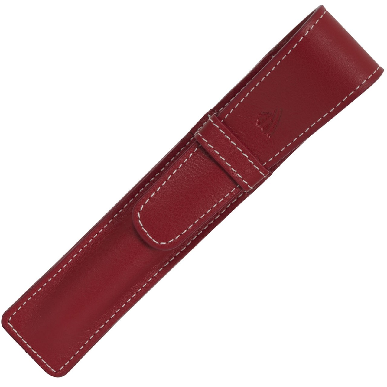 LARGE SOFT PEN POUCH WITH FLAP * RIVIERA RED