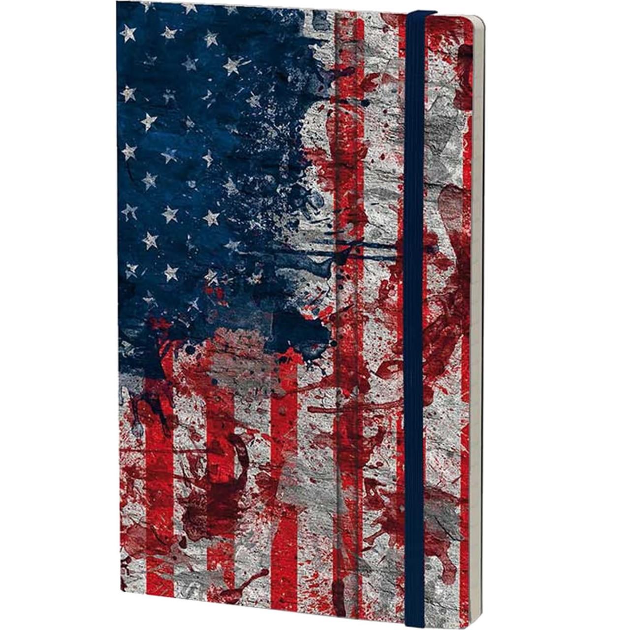 Stifflexible Notizbuch HISTORICAL NOTES 13 x 21 cm 192 S., I HAVE A DREAM (USA Flag)