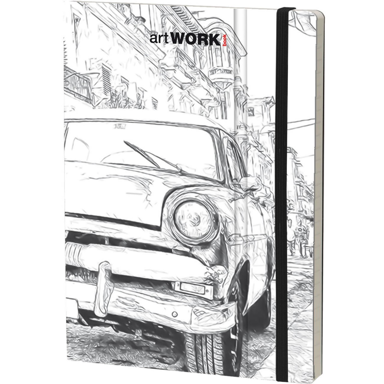 Stifflex Notizbuch ARTWORK BOOK 15 x 21 cm 192 S., HAVANA