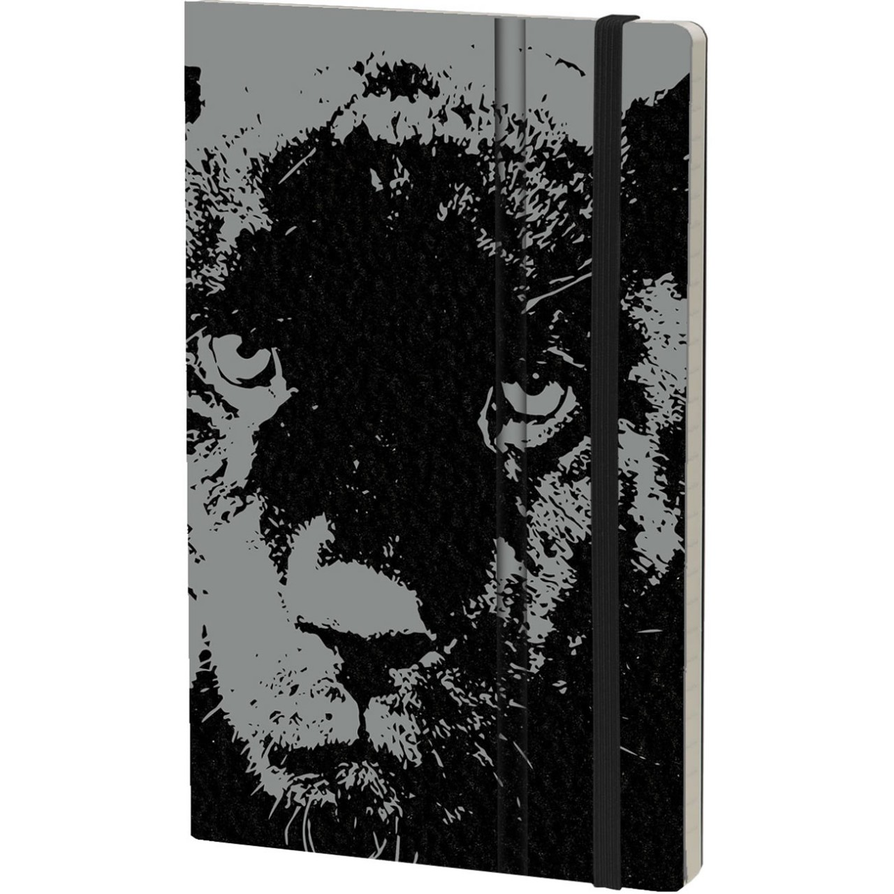 Stifflexible Notizbuch WILD PEARL 13 x 21 cm 192 S., BLACK PANTHER