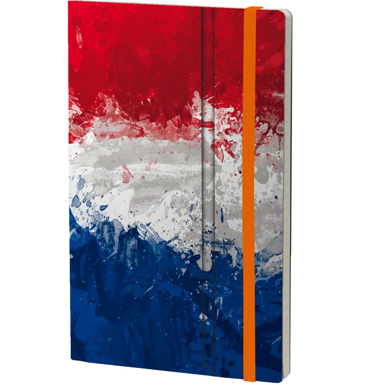 Stifflexible Notizbuch HISTORICAL NOTES 13 x 21 cm 192 S., IK ZAL HANDHAVEN (Netherlands Flag)