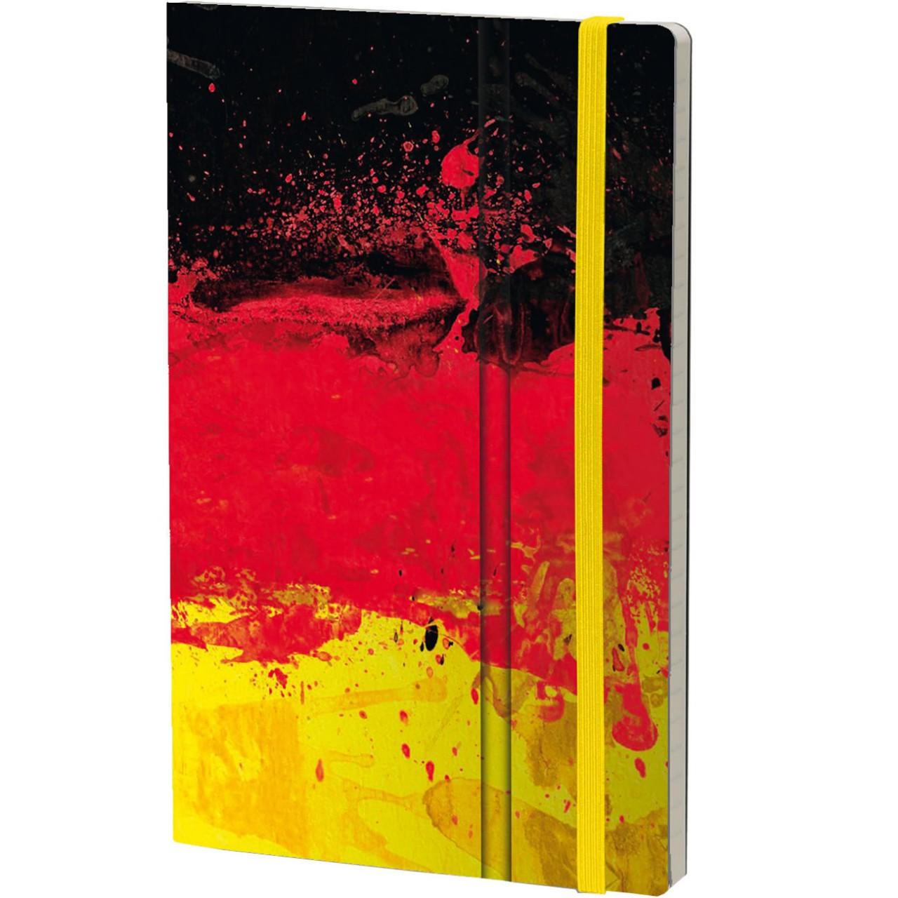 Stifflexible Notizbuch HISTORICAL NOTES 13 x 21 cm 192 S., EINIGKEIT UND RECHT UND FREIHEIT (Germany Flag)