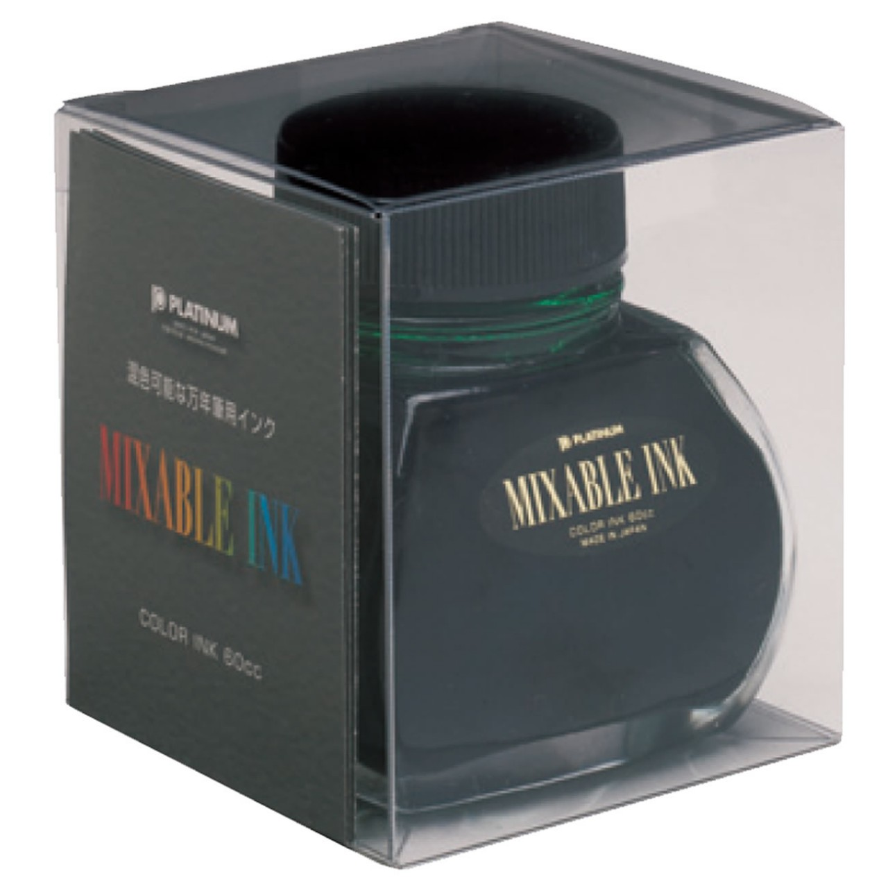 Platinum Dyestuff 'Mixable' bottle ink 60ml Leaf Green