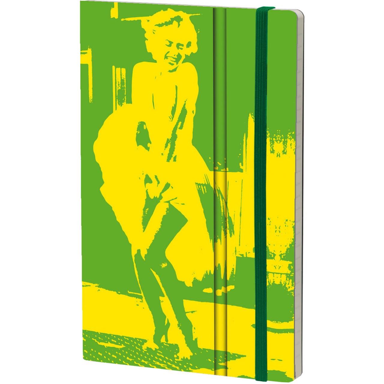 Stifflexible Notizbuch FLUO MARILYNN 13 x 21 cm 192 S., YELLOW-GREEN
