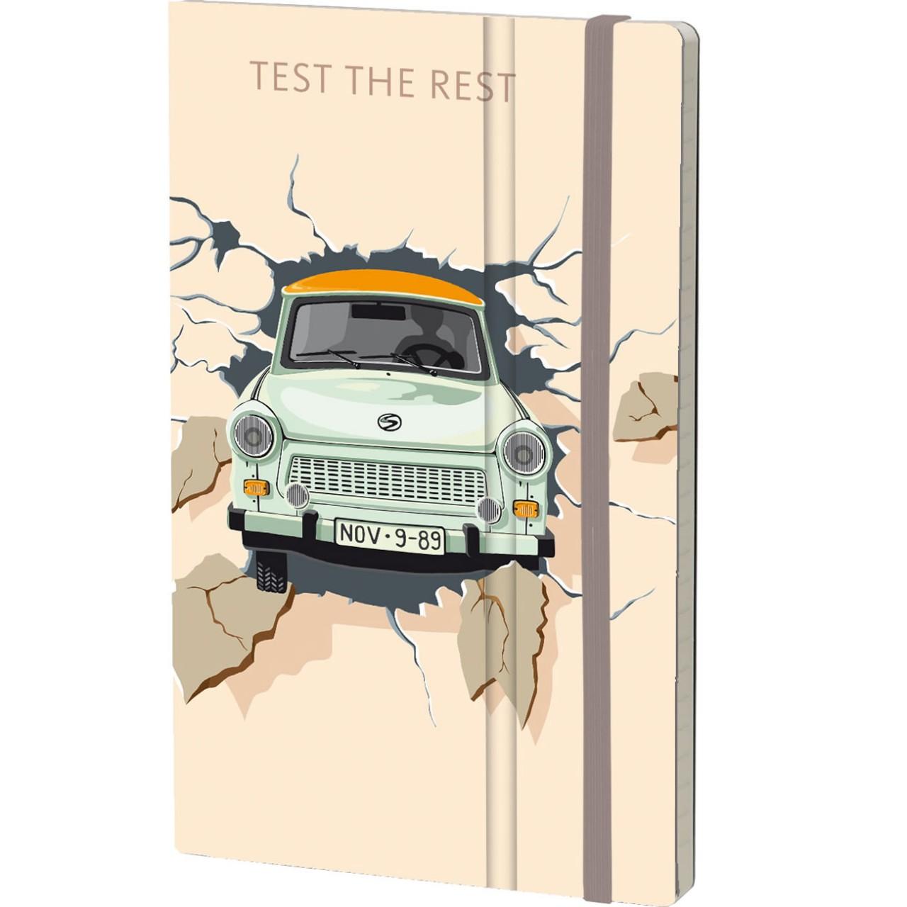 Stifflex Notizbuch THE WALL 13 x 21 cm 192 S., TEST THE REST - ORANGE