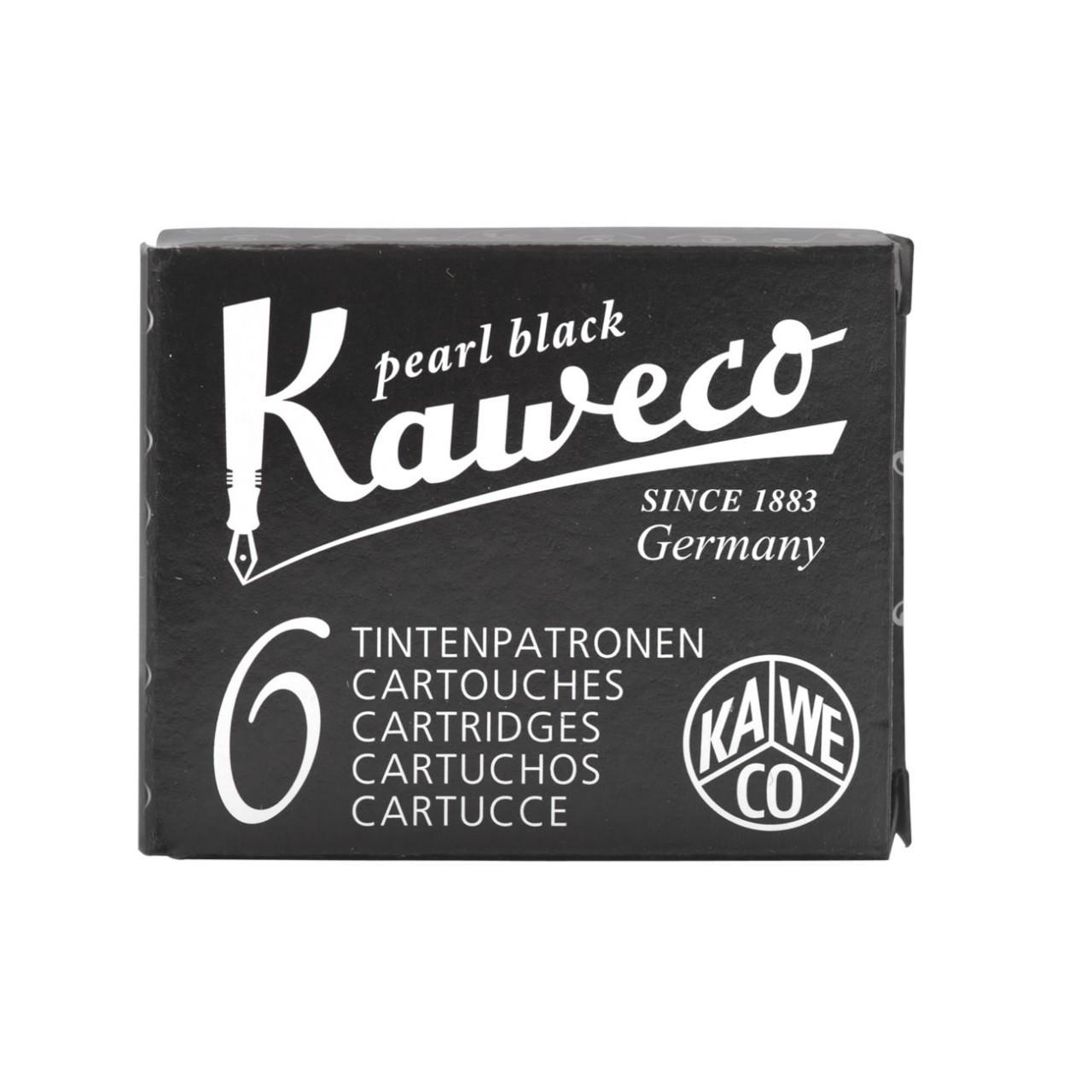 Kaweco Tintenpatronen 6 Stück perlenschwarz VE=20 Pack