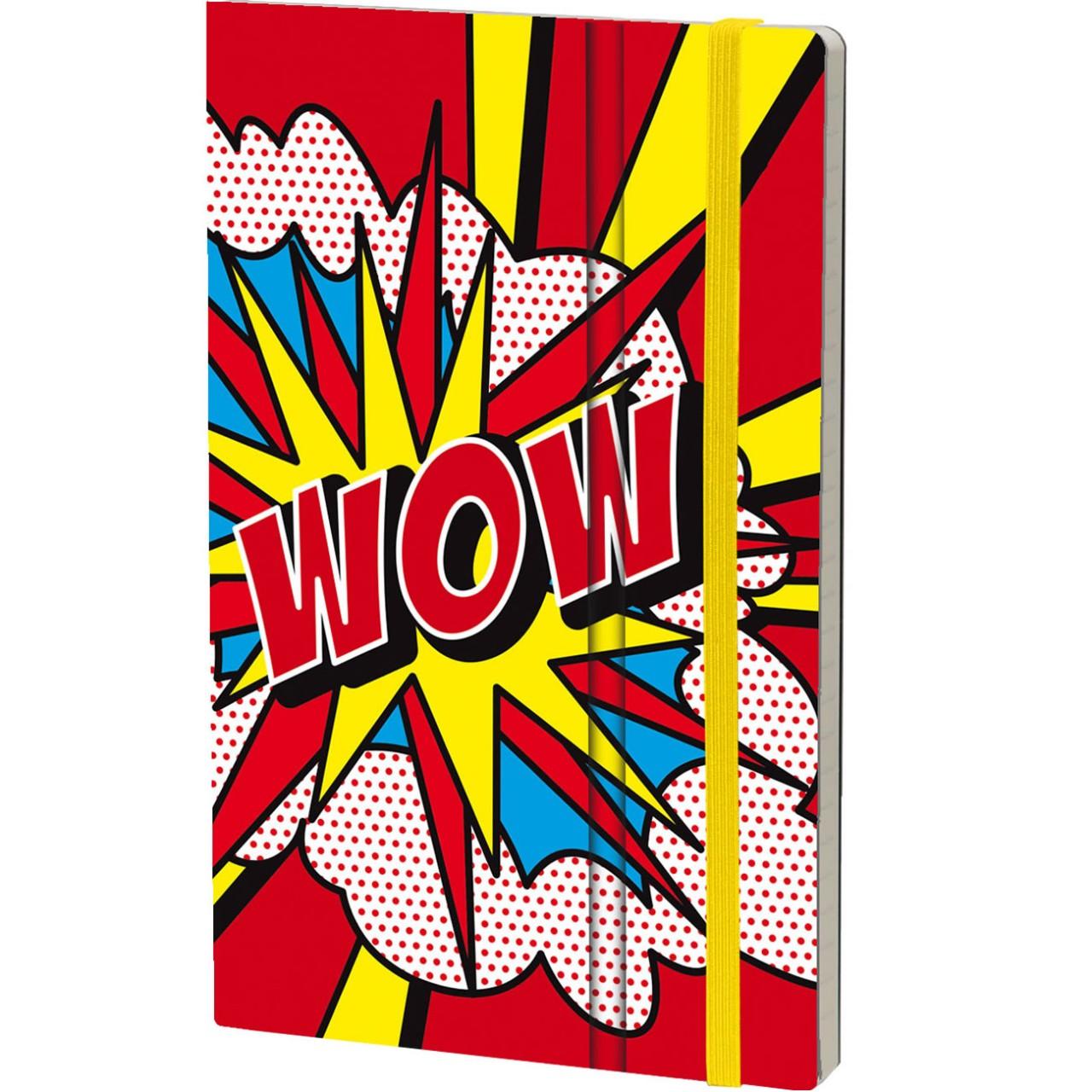 Stifflex Notizbuch POP 9 x 14 cm 144 S., WOW
