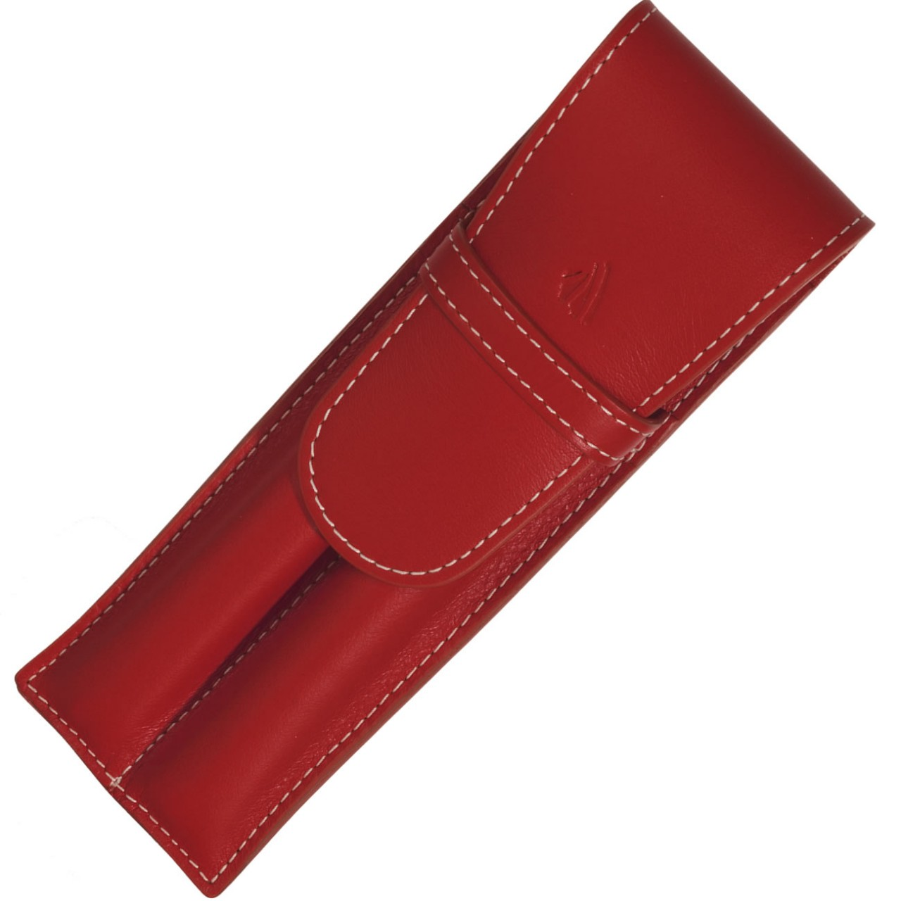 LARGE SOFT PEN POUCH W/FLAP 2P * RIVIERA RED