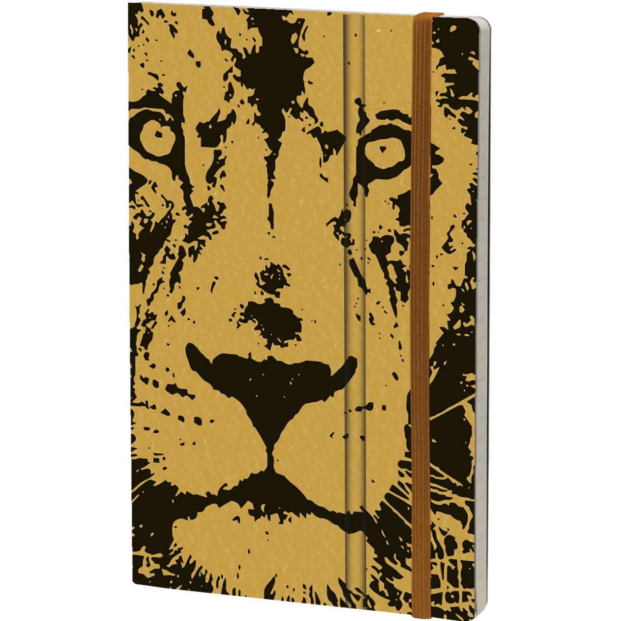 Stifflexible Notizbuch WILD PEARL 13 x 21 cm 192 S., LION