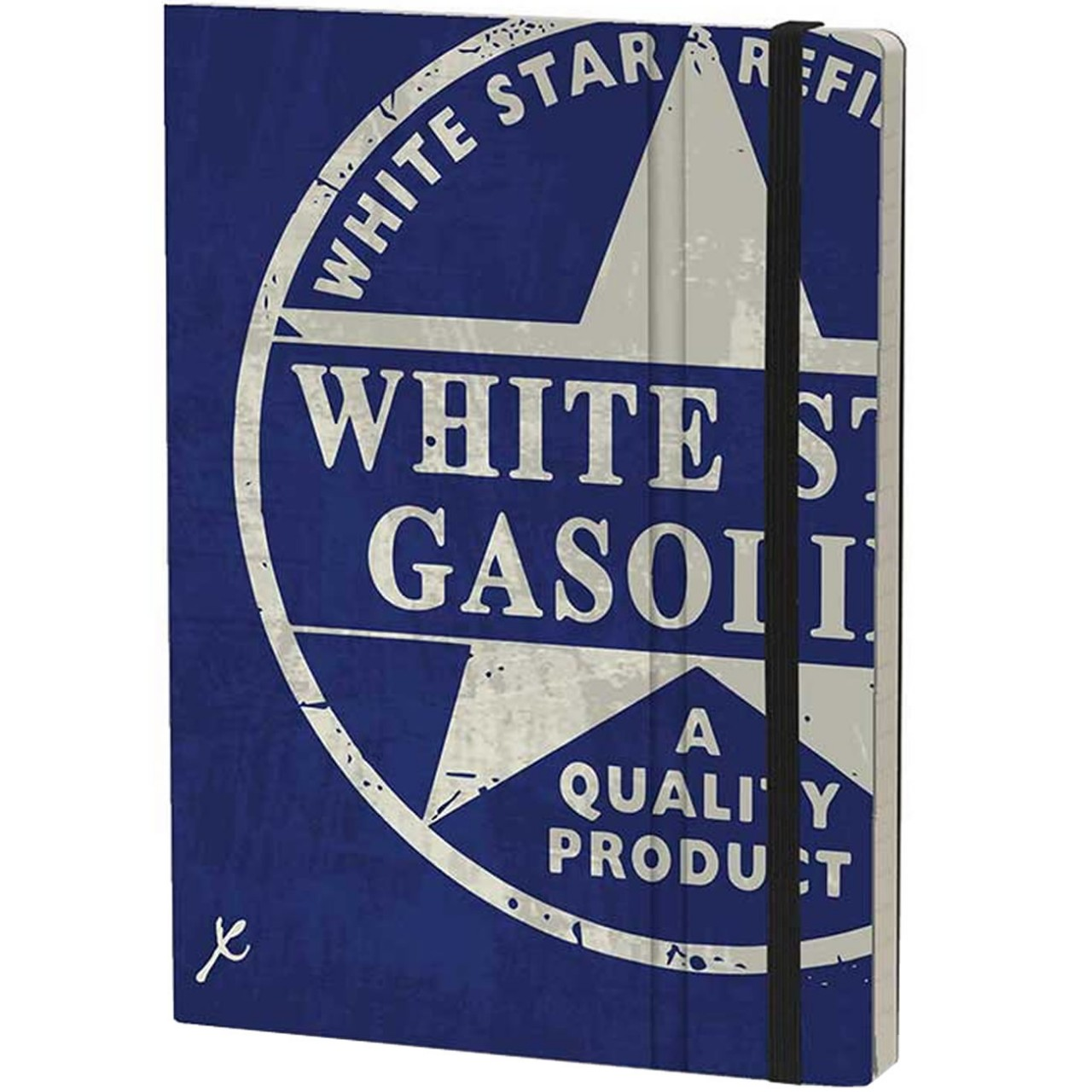 Stifflexible Notizbuch GASOLINE 15 x 21 cm 192 S., WHITE STAR