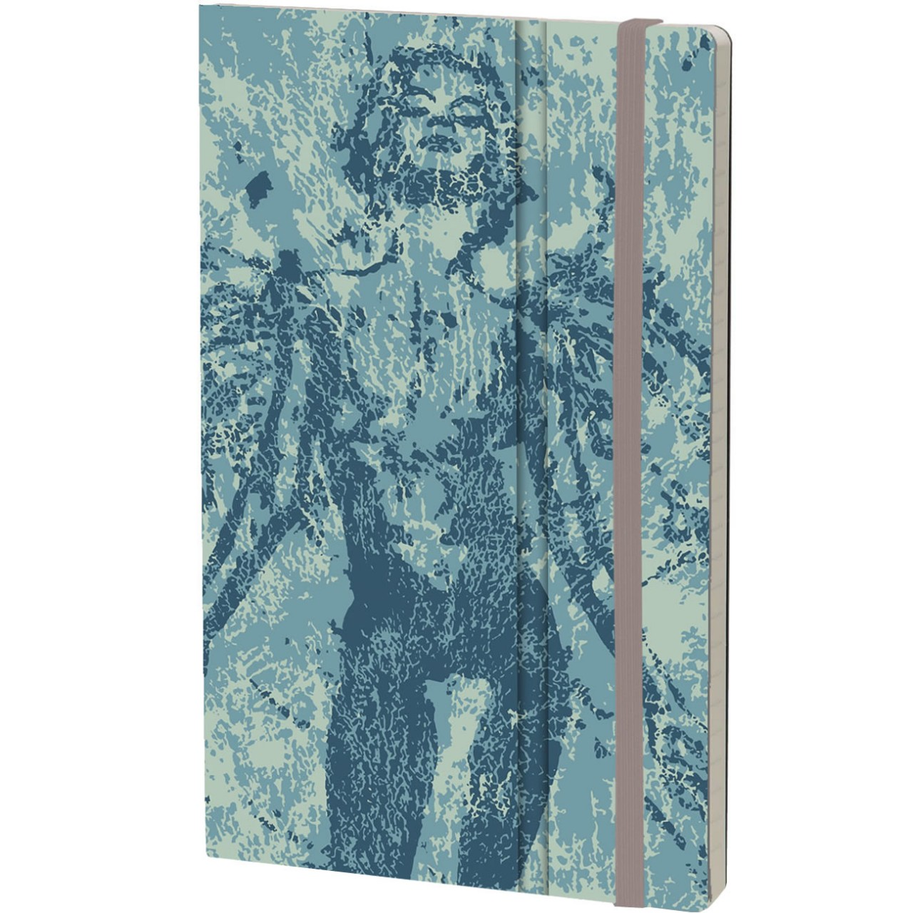 Stifflex Notizbuch PAINT - FRAGMENTATION 13 x 21 cm 192 S., ANGELO BLUE