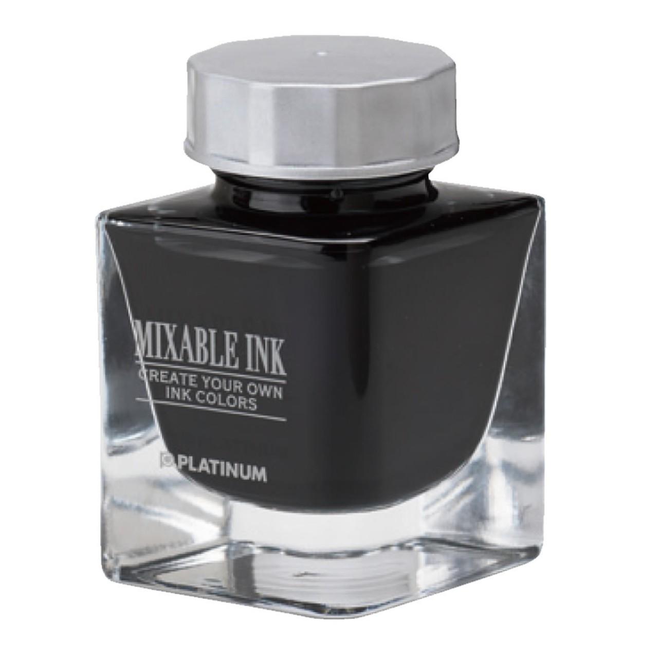 Platinum Dyestuff 'Mixable' bottle ink 20cc Smoke Black