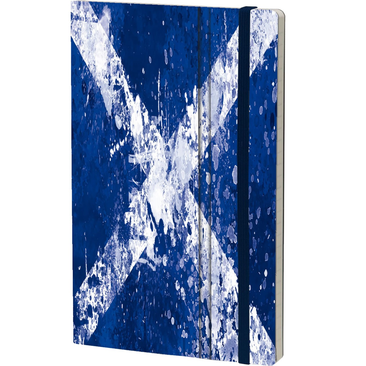 Stifflexible Notizbuch HISTORICAL NOTES 13 x 21 cm 192 S., ALBA AN ÀIGH (Scotland Flag)