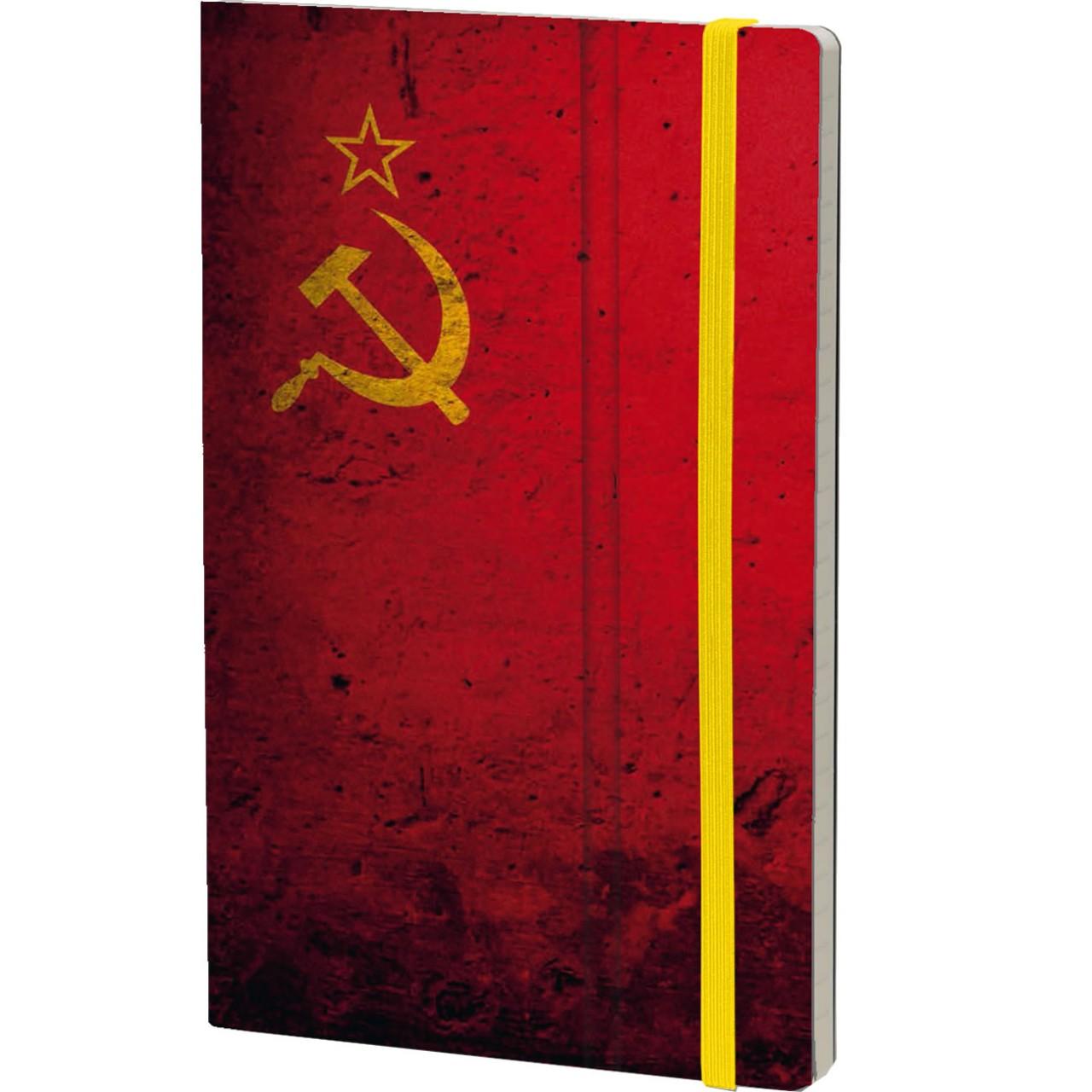 Stifflexible Notizbuch HISTORICAL NOTES 13 x 21 cm 192 S., DASVIDANIA TOVARISH (URSS Flag)