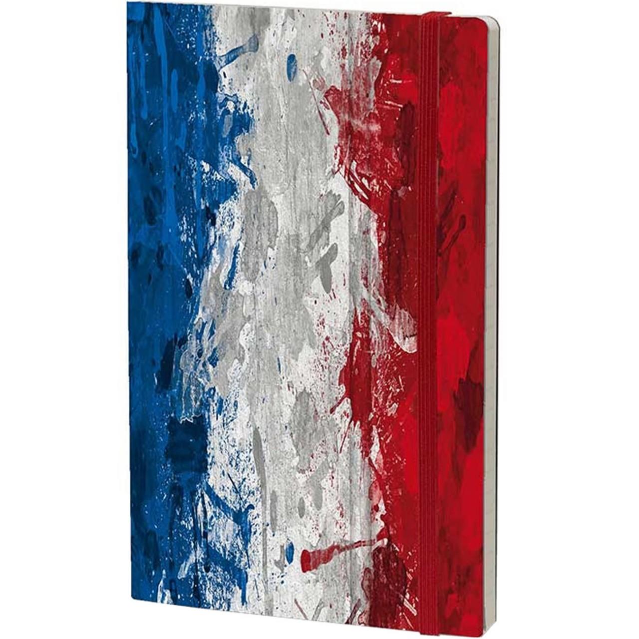 Stifflexible Notizbuch HISTORICAL NOTES 13 x 21 cm 192 S., LES COULEURS DE LA LIBERTE (France Flag)