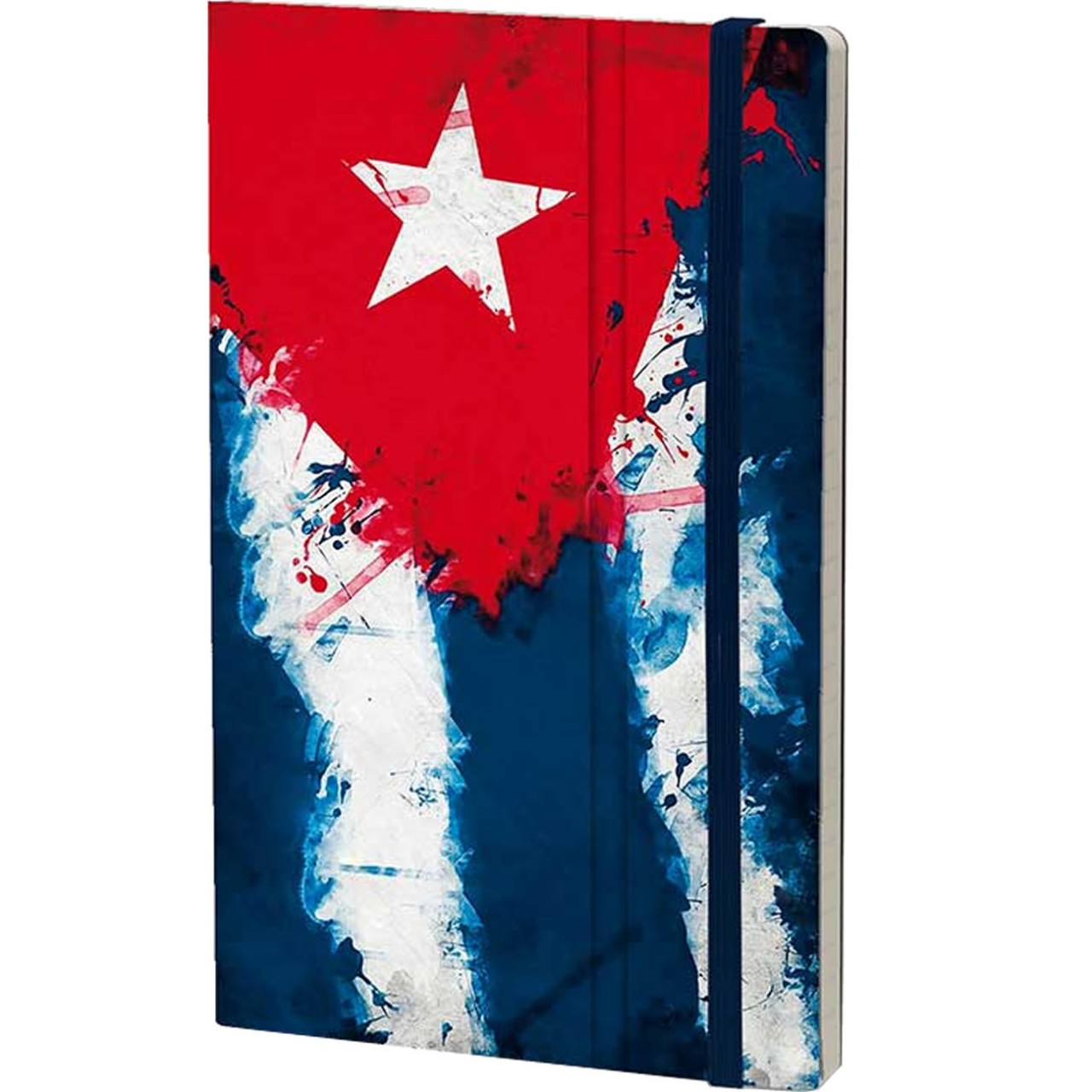 Stifflexible Notizbuch HISTORICAL NOTES 13 x 21 cm 192 S., HASTA LA VICTORIA SIEMPRE! (Cuba Flag)