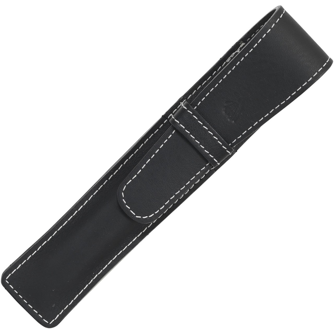 LARGE SOFT PEN POUCH WITH FLAP * RIVIERA BLACK