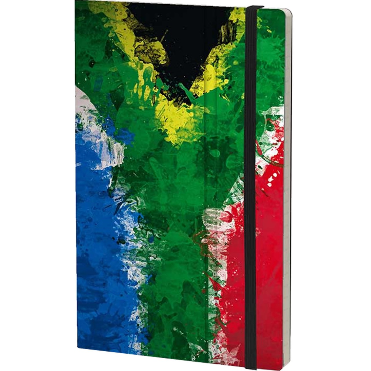 Stifflexible Notizbuch HISTORICAL NOTES 13 x 21 cm 192 S., IT ALWAYS SEEMS IMPOSSIBLE UNTIL IT'S DONE (South Africa Flag)