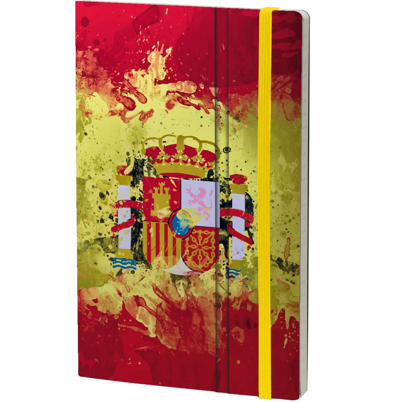 Stifflexible Notizbuch HISTORICAL NOTES 13 x 21 cm 192 S., A VIVIR QUE SON DOS DÍAS (Spain Flag)
