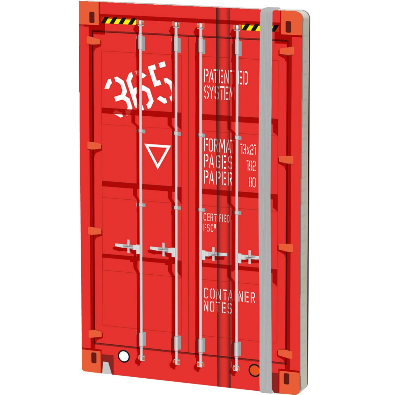 Stifflex Notizbuch CONTAINER NOTES 13 x 21 cm 192 S., RED