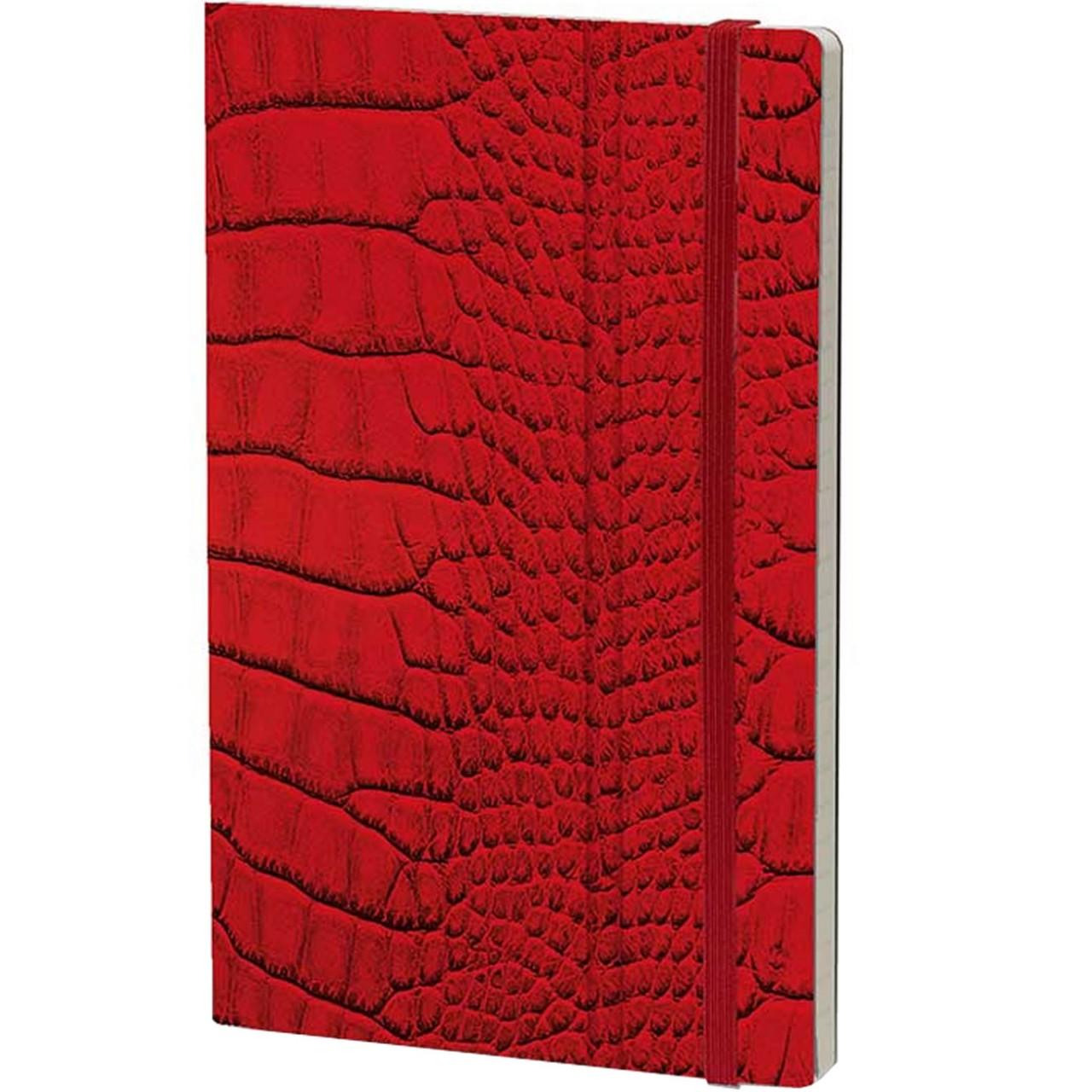 Stifflexible Notizbuch MRS CROCODILE 13 x 21 cm 192 S., RED