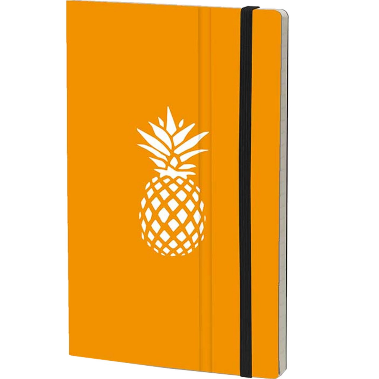 Stifflexible Notizbuch FRESH FRUIT 9 x 14 cm 144 S., PINEAPPLE