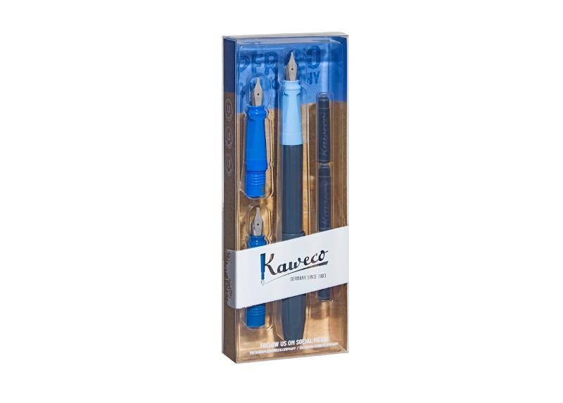 Kaweco Perkeo Kalligraphie-Set blau