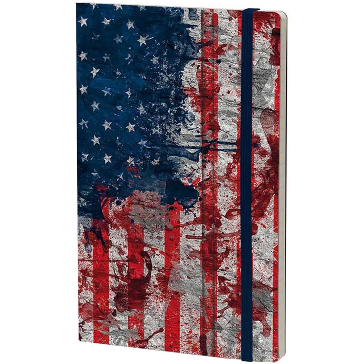 Stifflex Notizbuch HISTORICAL NOTES 9 x 14 cm 144 S., I HAVE A DREAM (USA Flag)