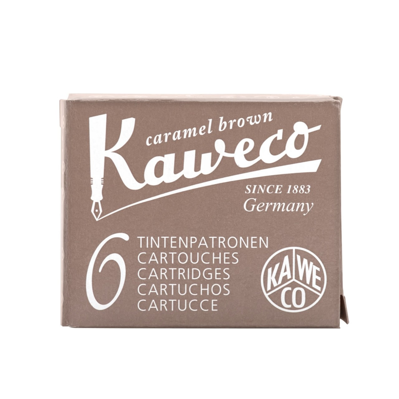 Kaweco Tintenpatronen 6 Stück caramelbraun VE=20 Pack