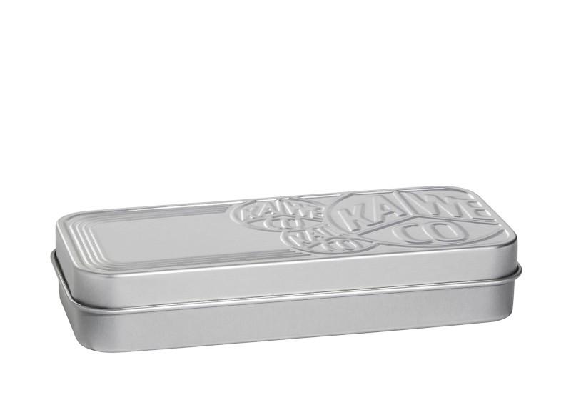 Kaweco Blechbox blank matt m. Reliefprägung kurz